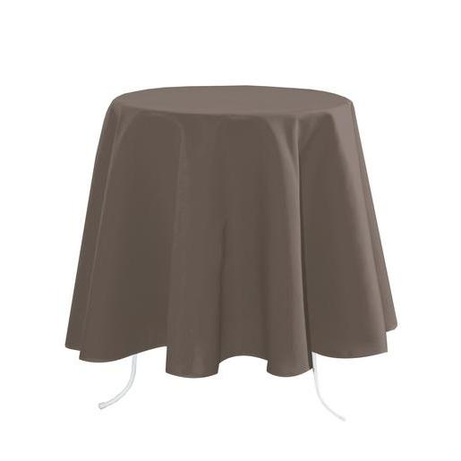 Nappe rectangulaire - 100 % Polyester - 148 x 300 cm - Marron taupe