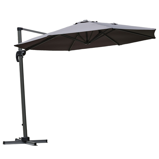 Parasol Deporte Polyester Gris Parasols Pieds De Parasols Et Voiles D Ombrage La Foir Fouille