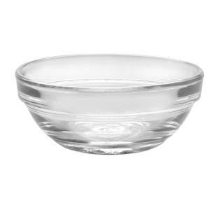 Lot de 4 coupelles rondes en verre  - Diamètre 7,5 cm - Blanc transparent