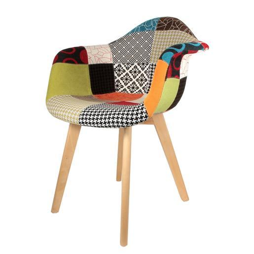 fauteuil scandinave patchwork - Fauteuil Scandinave Patchwork
