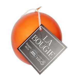 Bougie boule en paraffine - Diamètre 7,2 cm - Orange