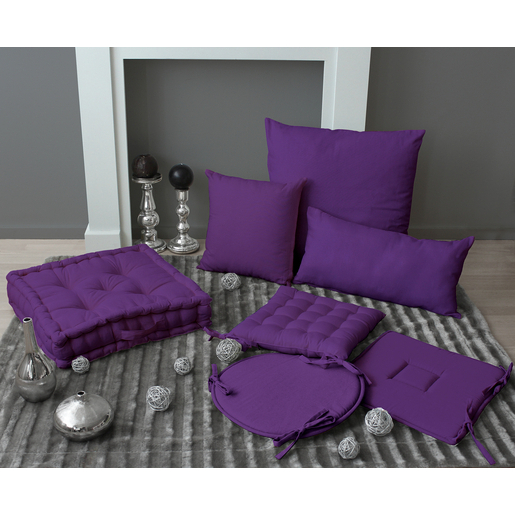 Coussin - 100% polyester - Violet - Coussins
