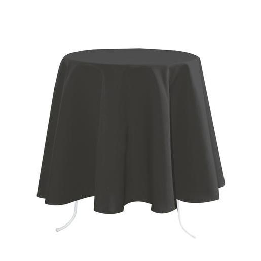 Nappe ronde - 100 % Polyester - Ø 160 cm - Gris anthracite