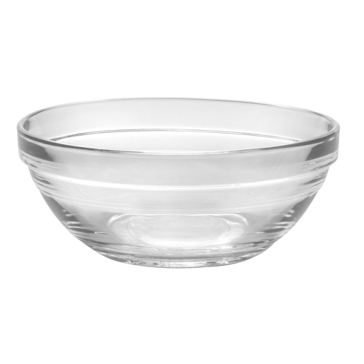 Coupelle ronde en verre - Diamètre 12 cm - Blanc transparent
