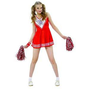 Costume adulte pom-pom girl en polyester - Taille unique- Multicolore