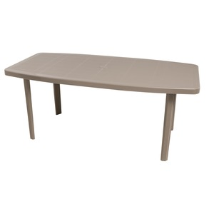table rectangulaire 87 x 176 x h 72 cm marron taupe