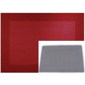 Set de table - PVC - 30 x 45 cm - Gris