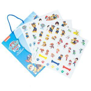 Set de 120 autocollants et plance décor Paw Patrolrol - 21,5 x 23 cm - Multicolore