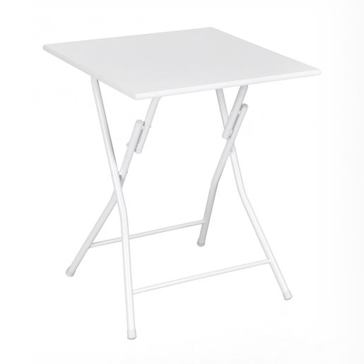 Table pliante - MDF - Métal - Blanc - Tables de cuisine | La Foir ...