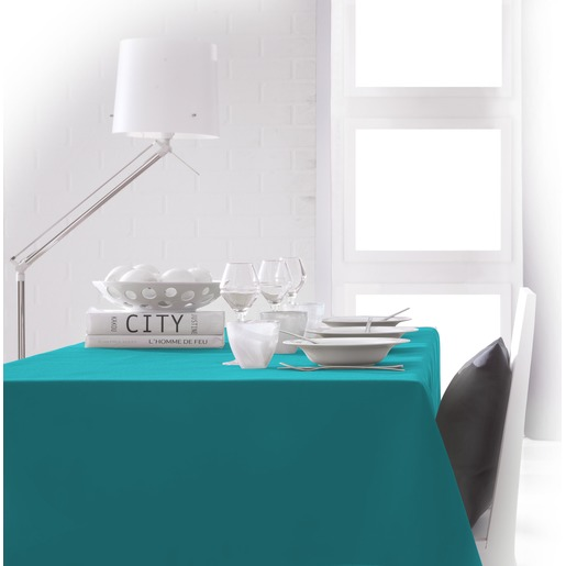 Nappe de table rectangulaire - 150 x 250 cm - Bleu mer du sud