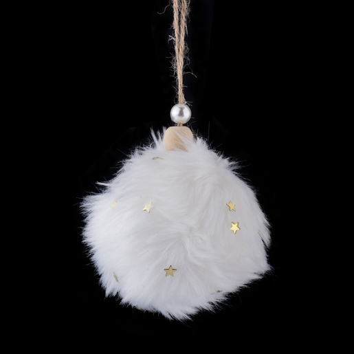 Boule fourrure   Or, blanc   Boules de Noël   La Foir'Fouille