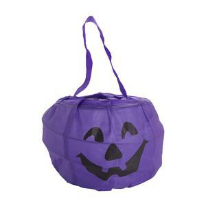 Sac à bonbons Pop-up Halloween en polyester taffetas - 17 x 13 cm - Noir, violet ou orange