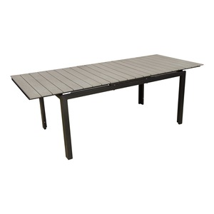 table algarve extensible 164216 x 90 x h 72 cm gris anthracite - Table De Jardin Pas Cher