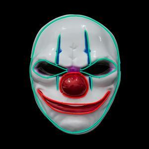 Masque de clown LED