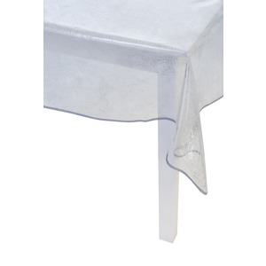 Nappe pailletée - 140 x 300 cm - Transparent