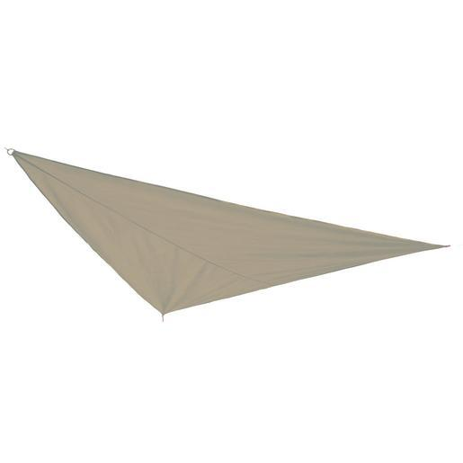 Voile d'ombrage triangulaire - Polyester et Polyamide - 3 x 3 x 3 m - Taupe