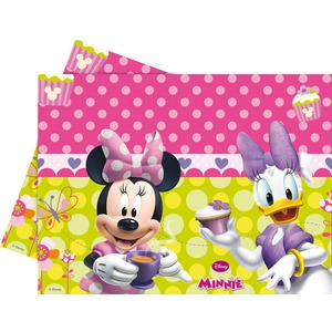 Nappe Minnie Bow-tique en plastique  - 120 x 180 cm -Multicolore