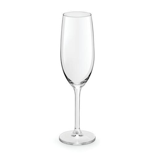 Lot de 3 flûtes LE VIN en verre - 21 cl - Blanc transparent
