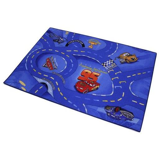 Tapis circulation Cars - Polyamide - 95 x 133 cm - Multicolore