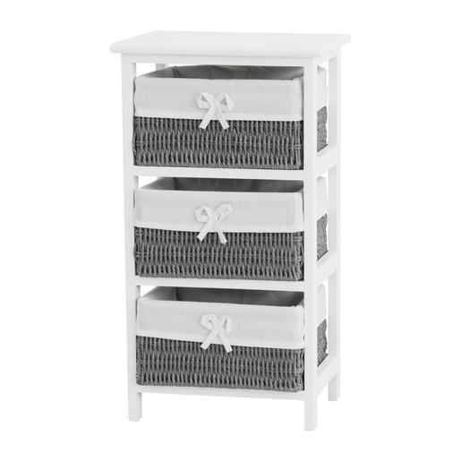 meuble 3 tiroirs - 34 x 25 x h 62 cm - meubles salle de bain | la