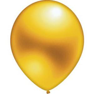 Lot de 10 ballons - Latex - 25 cm - Or