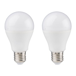 Lot de 2 ampoules à led - e 27 - blanc