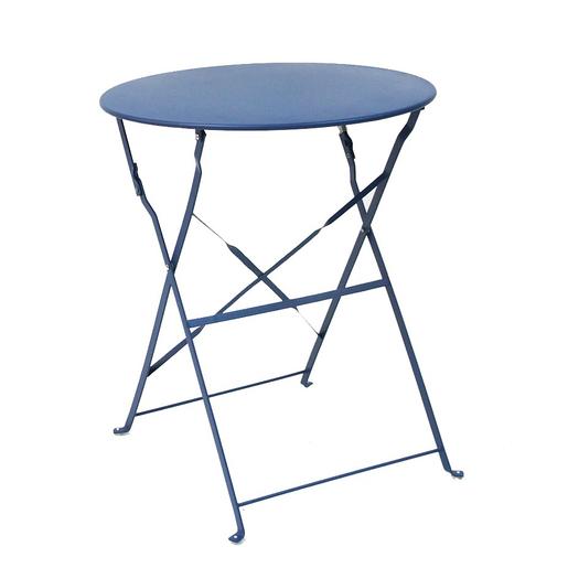 Table Diana ronde - 60 x 60 x H 71 cm - Bleu - MOOREA ...
