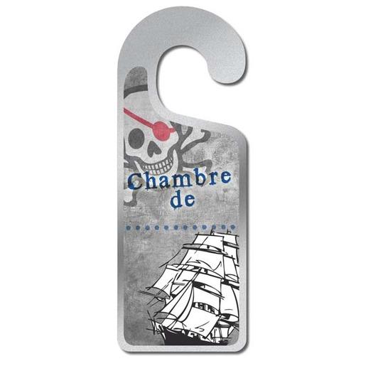 Plaque de porte - Chambre de : - modèle pirate pour garçon - 8 x 20 ...