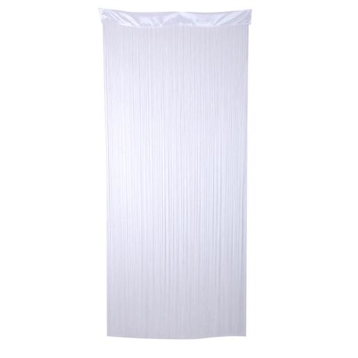 Rideau fils - Polyester - Blanc - Paire de vitrage - Voilage pour ...