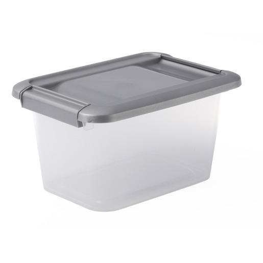 Boîte De Rangement Gamme Kliker A5 En Plastique - 5 Litres - Gris