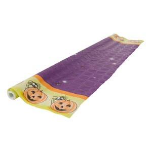 Nappe damassée Halloween - 1,18 x 6 m - Multicolore