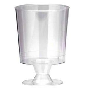 Lot de 10 verres à vin plastique transparent Gappy - 150 cl -Polystyrène- Blanc