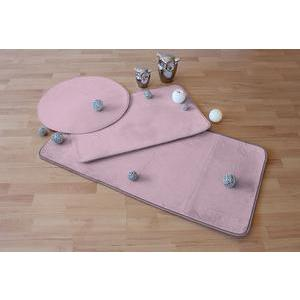 Tapis - Polyester et latex - 60 x 115 cm - Rose