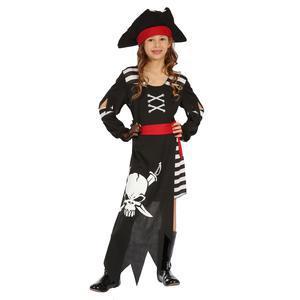 3596c0ae89bf65 Déguisement de pirate rebelle - Polyester - 4 à 12 ans - Noir et blanc