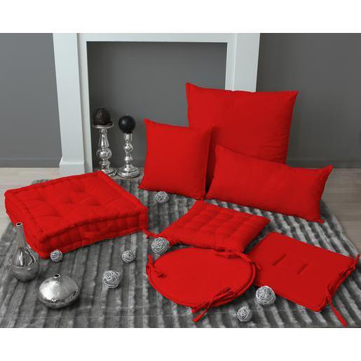Rabats Coton Chaise Galette Rouge 50Polyester À De dBtxQrCsh