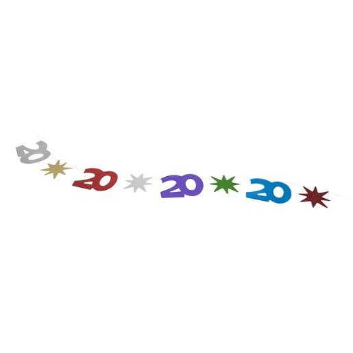 Guirlande Fil Anniversaire 20 Ans 30 M Multicolore