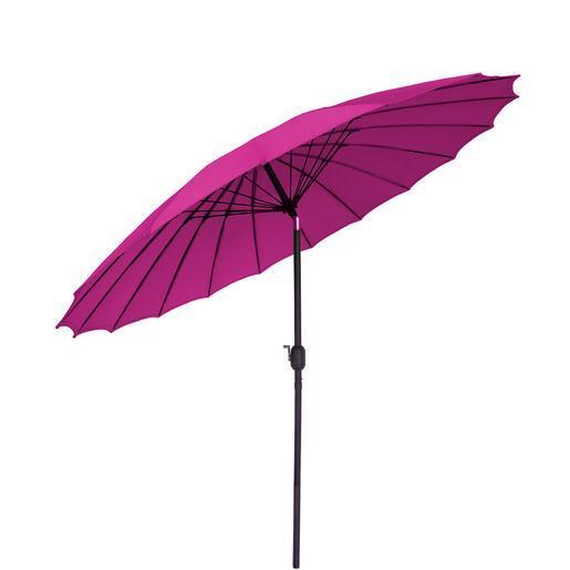 Parasol   Acier   Polyester   Rose   Parasols et Moustiquaires