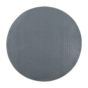 Set de table effet croco - Diamètre 38 cm - Gris