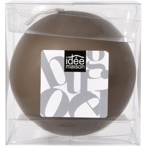Bougie boule grand format - 8 cm - Marron taupe