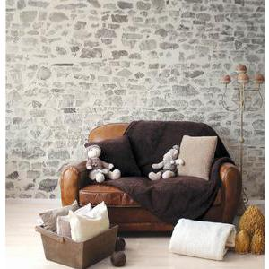 Plaid imitation mouton - 100% polyester - 125 x 150 cm - Marron