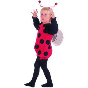 Costume Baby coccinelle en polyester - 92 x 104 cm - Rouge