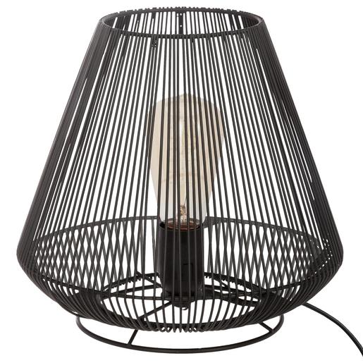 lampe en m tal filaire h 26 cm noir lampes poser la foir 39 fouille. Black Bedroom Furniture Sets. Home Design Ideas