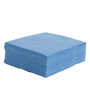 Lot de 40 serviettes Soft Touch Bleu Lagon 2 plis - 38 x 38 cm - Pure Ouate de Cellulose - Bleu