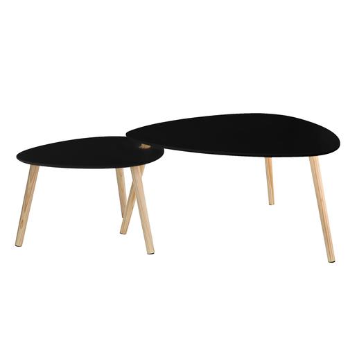 Table Gigogne Ovale Noir Meubles De Salon La Foirfouille