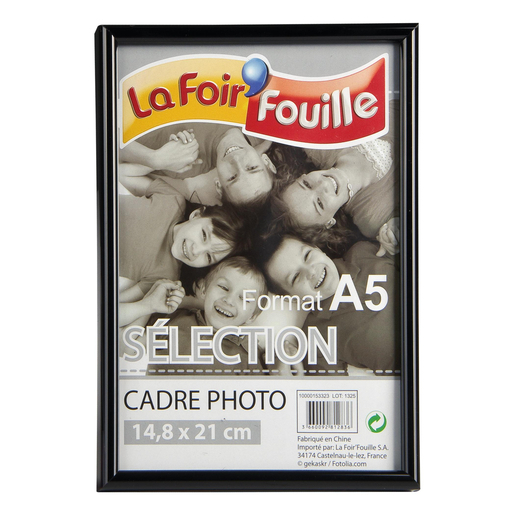 Cadre photo 14,8 x 21 cm - transparent