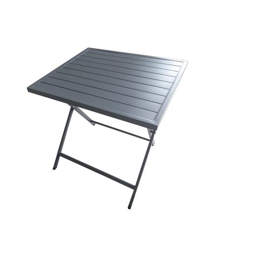 Table Pliante Acier Gris Mobilier De Jardin La Foir Fouille