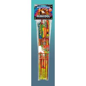Assortiment de feux d'artifice mini cool - Poudre explosive - 13 x 3 x H 53 cm - Multicolore
