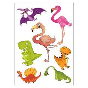 Stickers enfant - Papier et PVC - 50 x70 cm - Multicolore