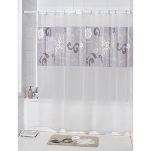 Rideau de douche PVC collection Chic - 180 x 180 cm - Transparent