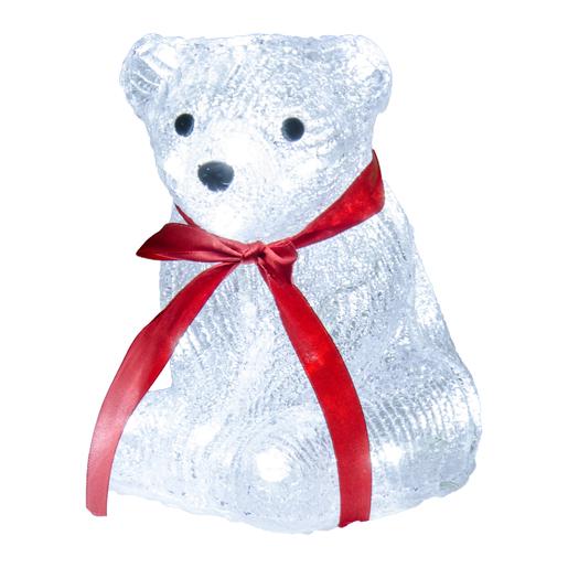 Ours Lumineux Noel Silouhette électrique ours Blanc Rouge   Décoration lumineuse de